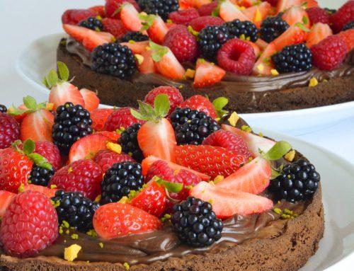Brownie med chokoladeganache