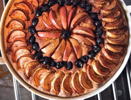 Julemazarin med æbler og kirsebær